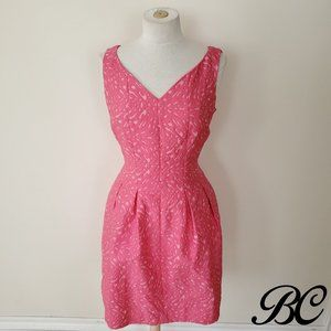 Taylor Dress Pink Sleeveless Fit Flare Bubble
